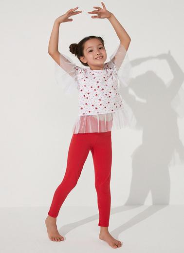 Penti Çok Renkli Kız Çocuk Star Frill Ss 2Li Pijama Takımı Renkli